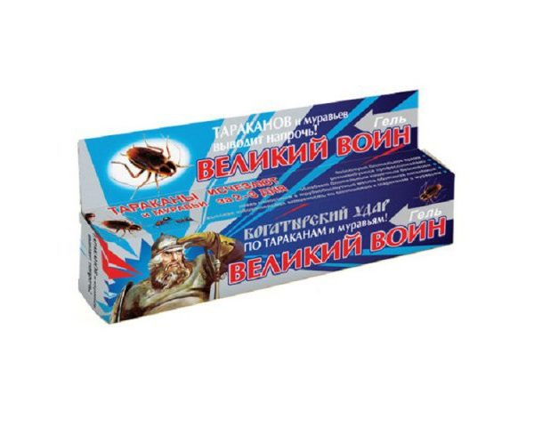 гель великий воин синий 45гр от тараканов и муравьев